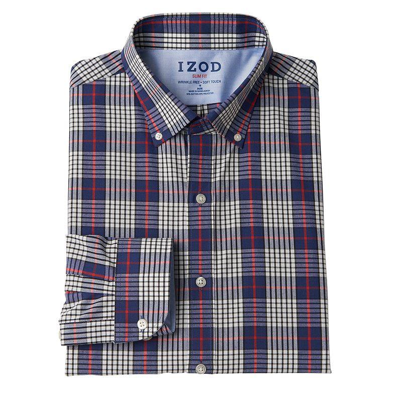 Men's IZOD Slim-Fit Button-Down Collar Dress Shirt