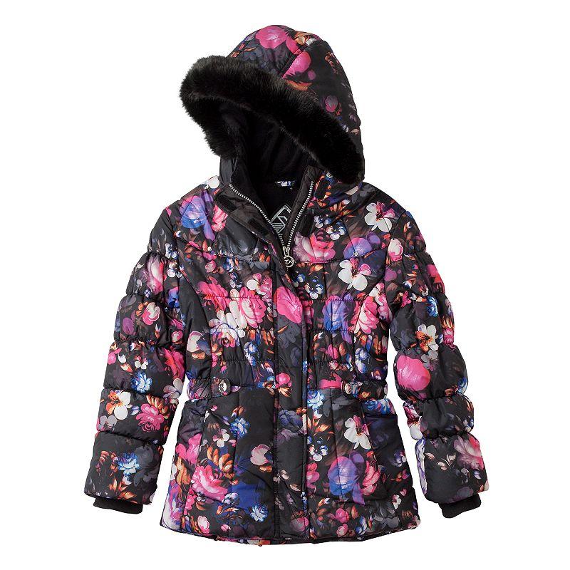 Girls 7-16 ZeroXposur Floral Puffer Jacket