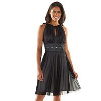Jessica Howard Beaded Fit & Flare Halter Dress - Women's