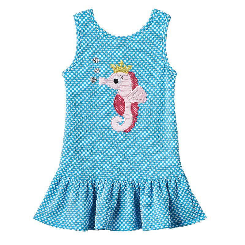 Toddler Girl Youngland Drop-Waist Polka-Dot Dress