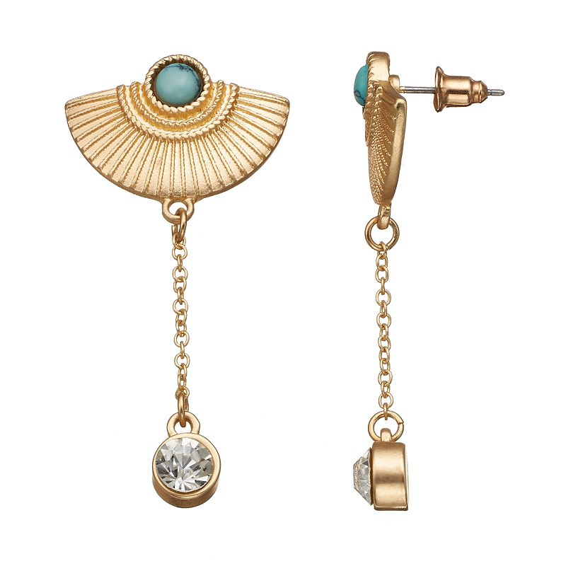 GS by gemma simone Samurai Warrior Collection Drop Earrings