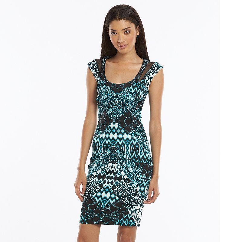 Chaya Animal Print Scuba Sheath Dress - Women's