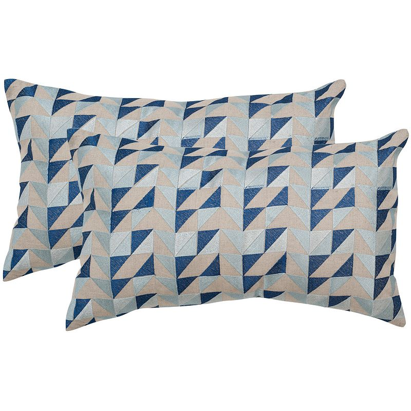 Kohls Nautical Throw Pillows : Safavieh 2-piece Nautical Geo 12 x 20 Throw Pillow Set DealTrend