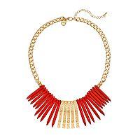 GS by gemma simone Samurai Warrior Collection Spike Bib Necklace