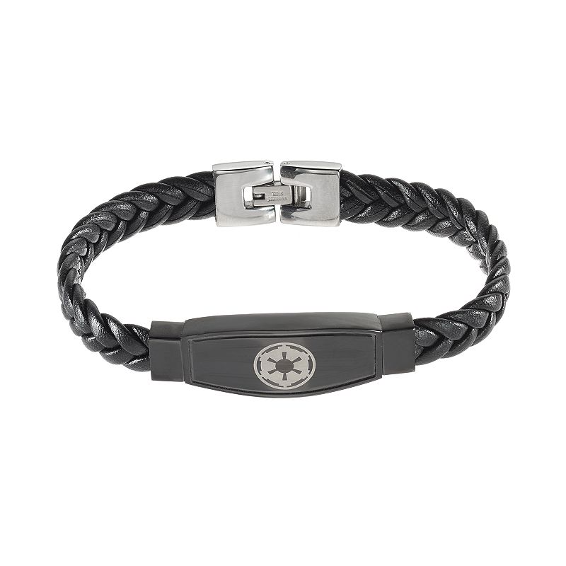 Star Wars Men's Galactic Empire Symbol Leather Bracelet