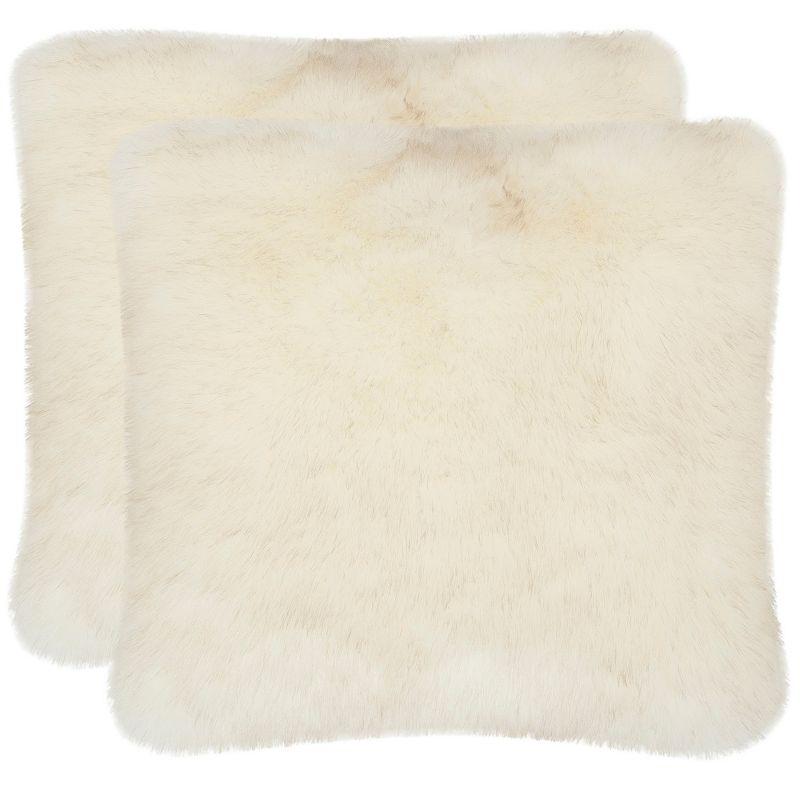 White Faux Fur Throw Pillow Kohl s