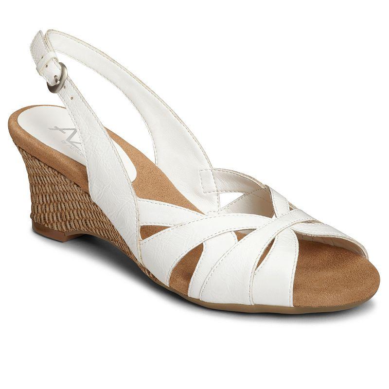 A2 by Aerosoles Zenchilada Women's Slingback Cutout Wedge Sandals