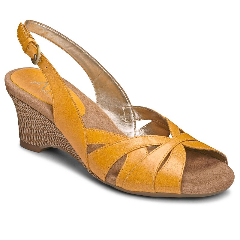 A2 by Aerosoles Zenchilada Women's Slingback Cutout Wedge Sandals