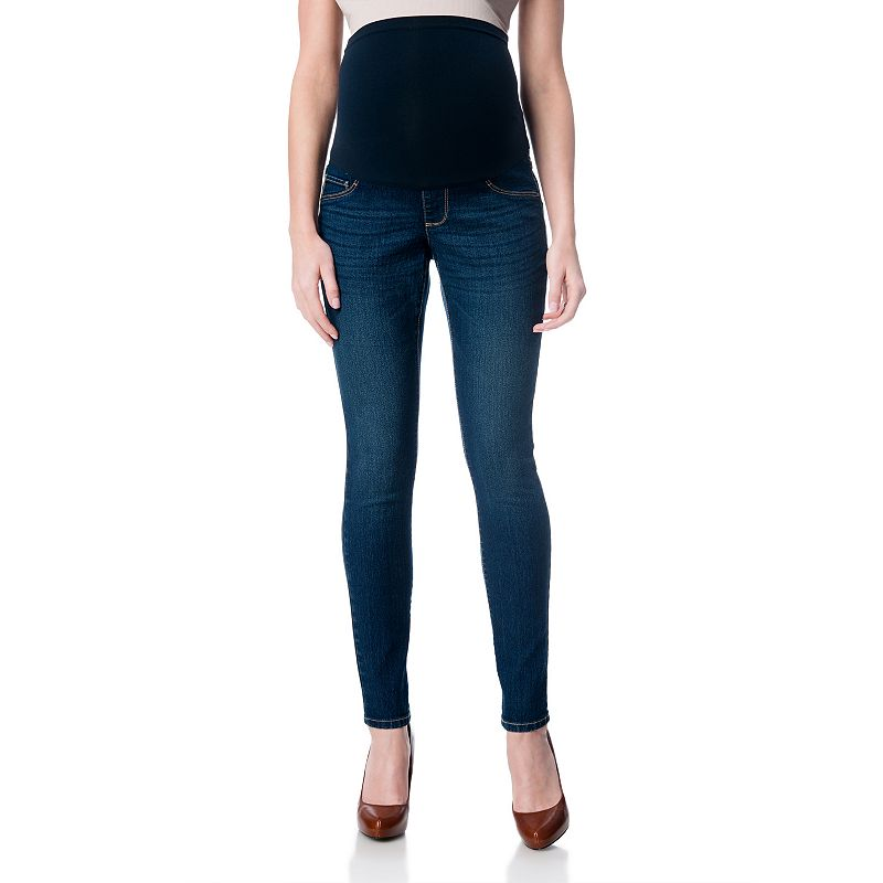 Maternity Oh Baby by Motherhood™ Secret Fit Belly™ Dark Wash Skinny Jeans