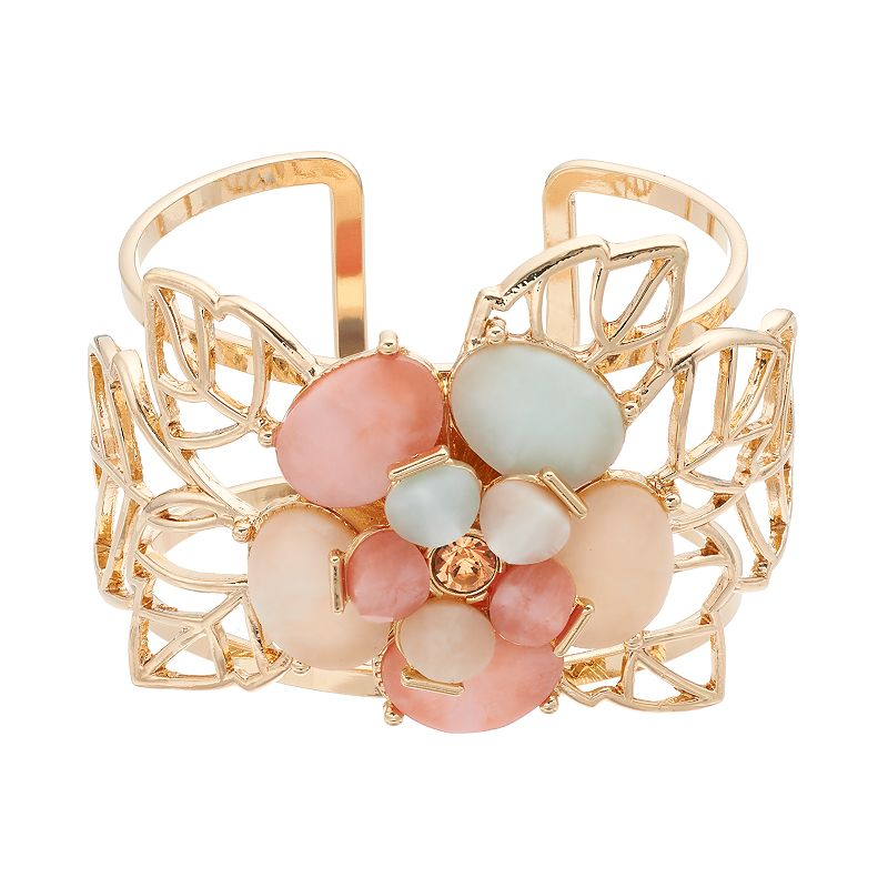 GS by gemma simone Fresh Cut Flowers Collection Leaf Cuff Bracelet