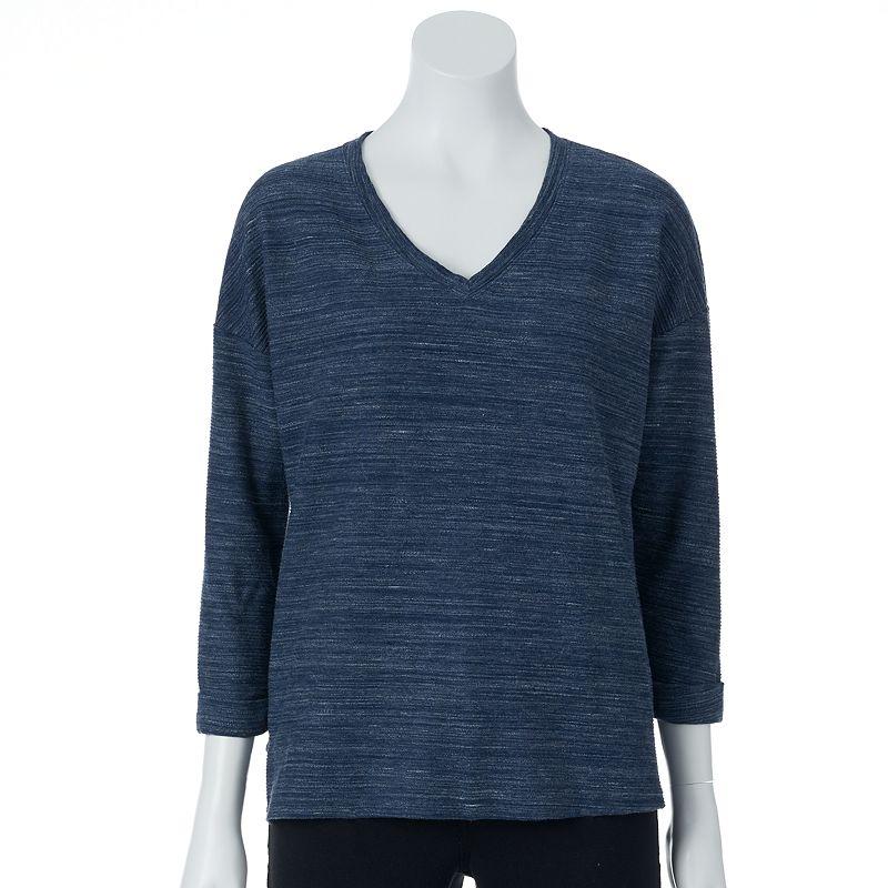 SONOMA Goods for Life™ Textured V-Neck Sweatshirt - Women's
