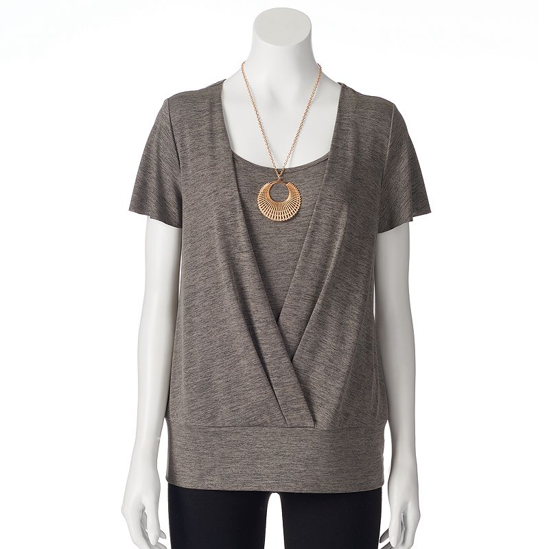 AB Studio Space-Dye Necklace Top - Women's