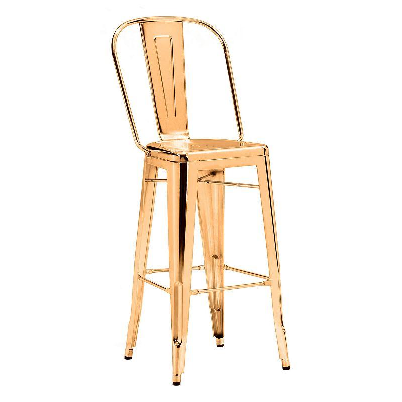 Zuo Era Elio Metallic Bar Chair