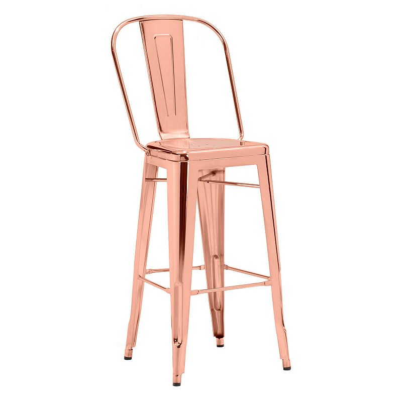 Zuo Era Elio Metallic Bar Chair