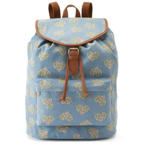 Candie's® Riley Floral Denim Heart Backpack
