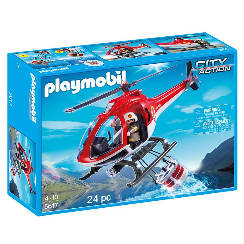 Playmobil Forest Fire Helicopter Playset - 5617