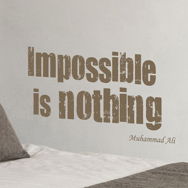 Home Decor Line ''Impossible Is Nothing'' Wall Decal