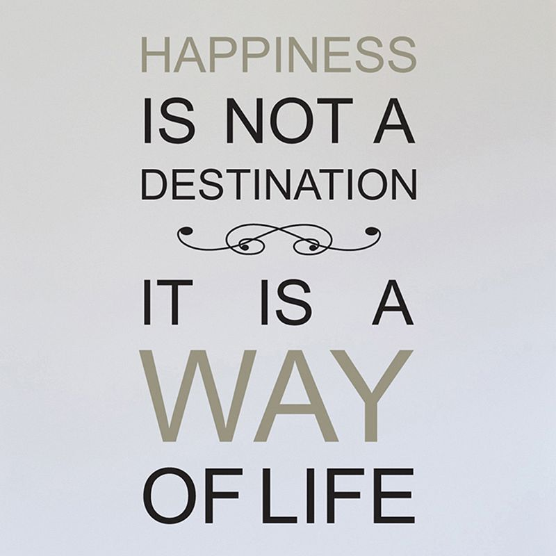 Home Decor Line ''Happiness Is Not A Destination'' Wall Decal