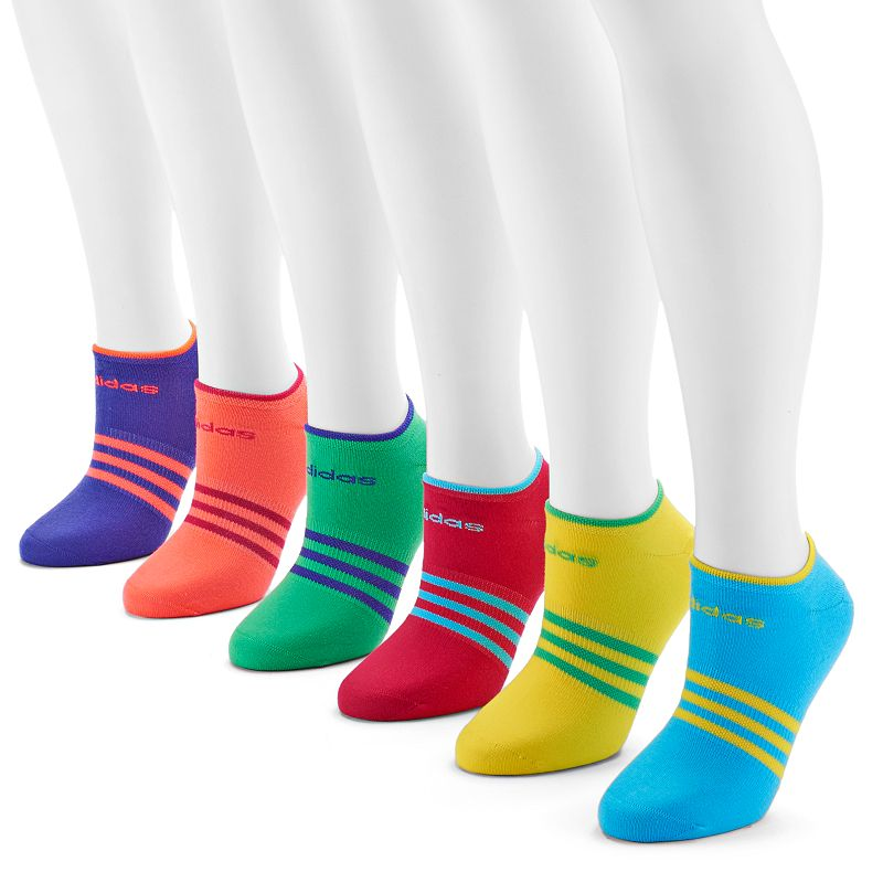 adidas 6-pk. Neon No-Show Socks - Women