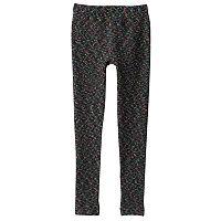 Girls 7-16 Neon Space-Dye Fleece-Lined Leggings