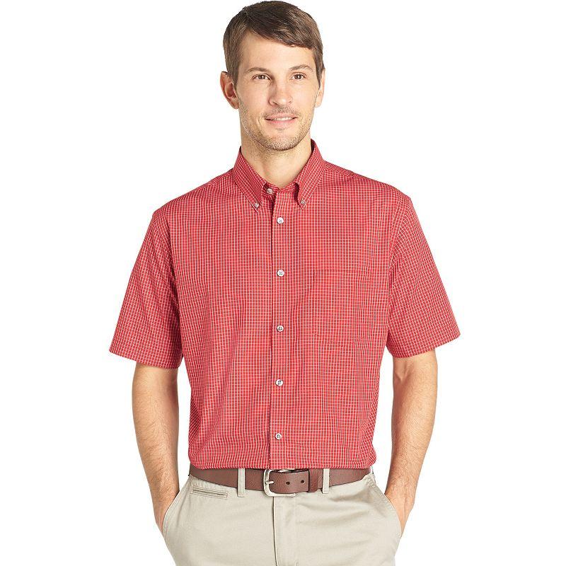 Van Heusen No Iron Casual Button Down Shirt Men