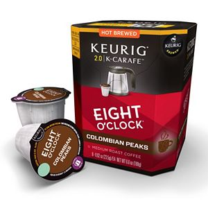 Keurig® K-Carafe™ Pod Eight 'O Clock Columbian Peaks Medium Roast Regular Coffee - 8-pk.