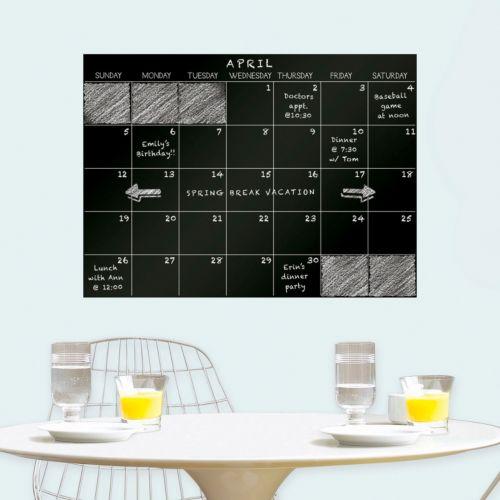 WallPops Chalkboard Monthly Calendar Wall Decal