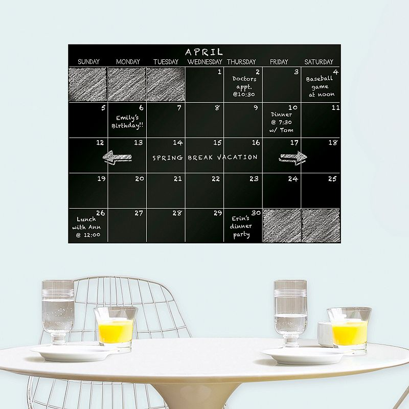 WallPops Chalkboard Monthly Calendar Wall Decal
