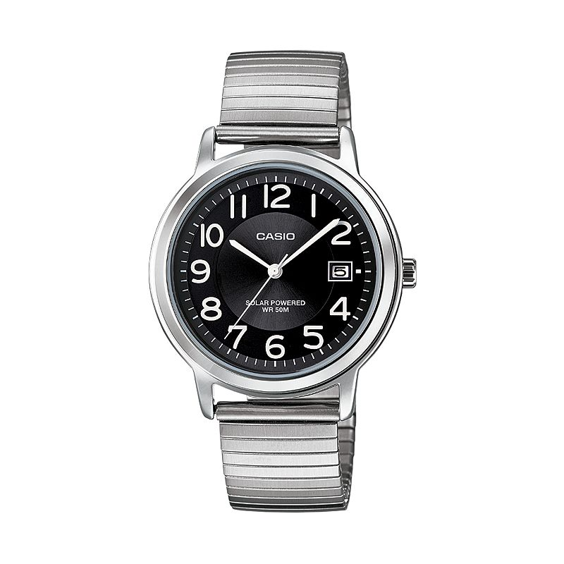 Casio Men's Classic Stainless Steel Solar Watch