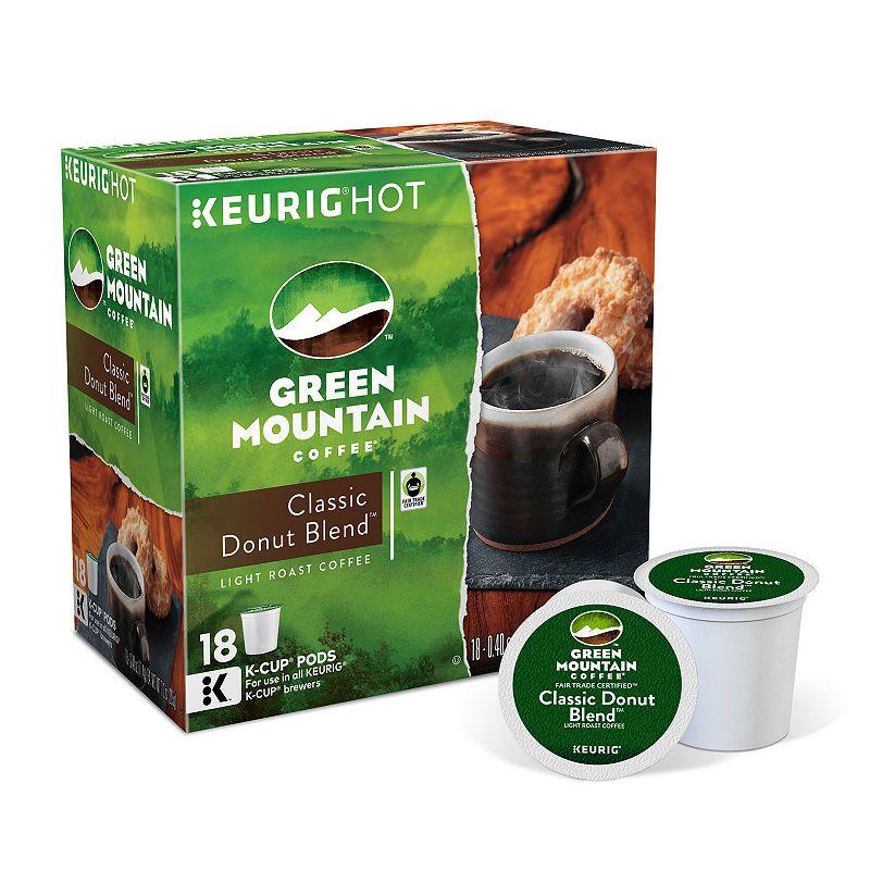 Keurig® K-Cup® Pod Green Mountain Classic Donut Blend Light Roast Regular Coffee - 18-pk.