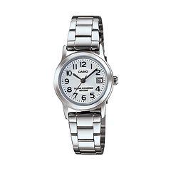 Casio Women's Classic Stainless Steel Solar Watch LTPS100D-7BVCF