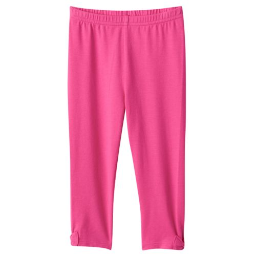 Baby Girl Jumping Beans® Solid Bow Leggings