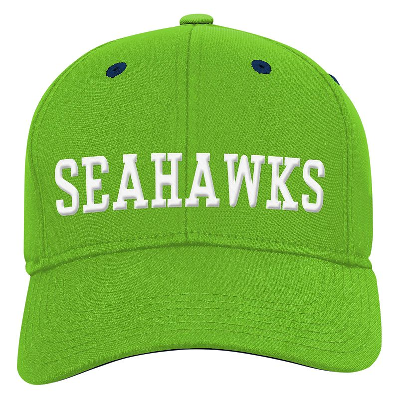 Youth Seattle Seahawks Structured Flex-Fit Cap