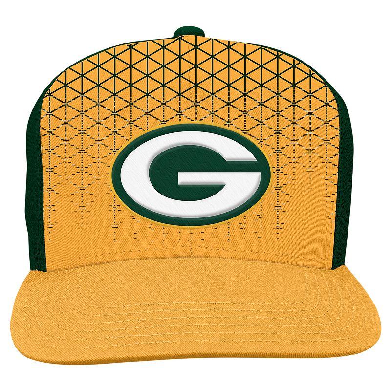 Youth Green Bay Packers Vertex Flat-Brim Meshback Cap
