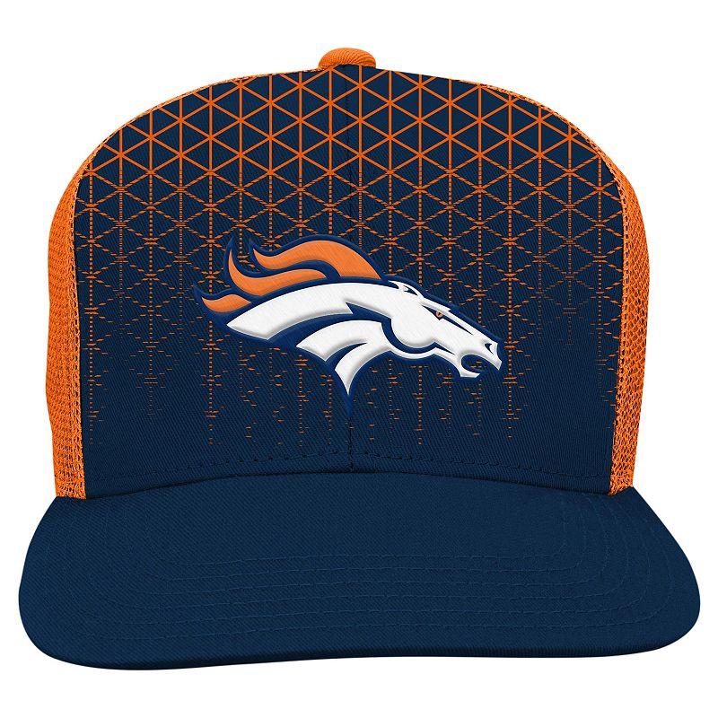 Youth Denver Broncos Vertex Flat-Brim Meshback Cap