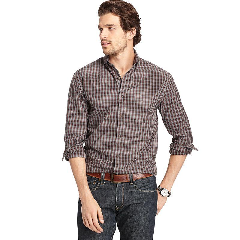 Arrow Blazer Plaid Button Down Shirt Big Tall Size
