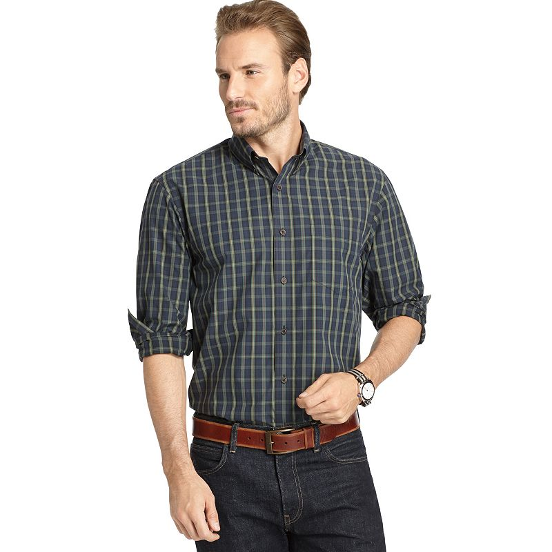 Big Tall Arrow Blazer Plaid Button Down Shirt Dealtrend