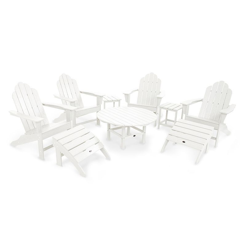 POLYWOOD® Long Island Adirondack 9-piece Outdoor Table Set