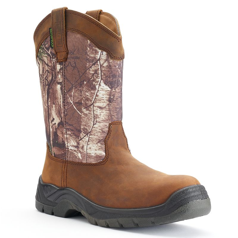 Itasca Python Realtree Camo Men's Waterproof Steel-Toe Work Boots