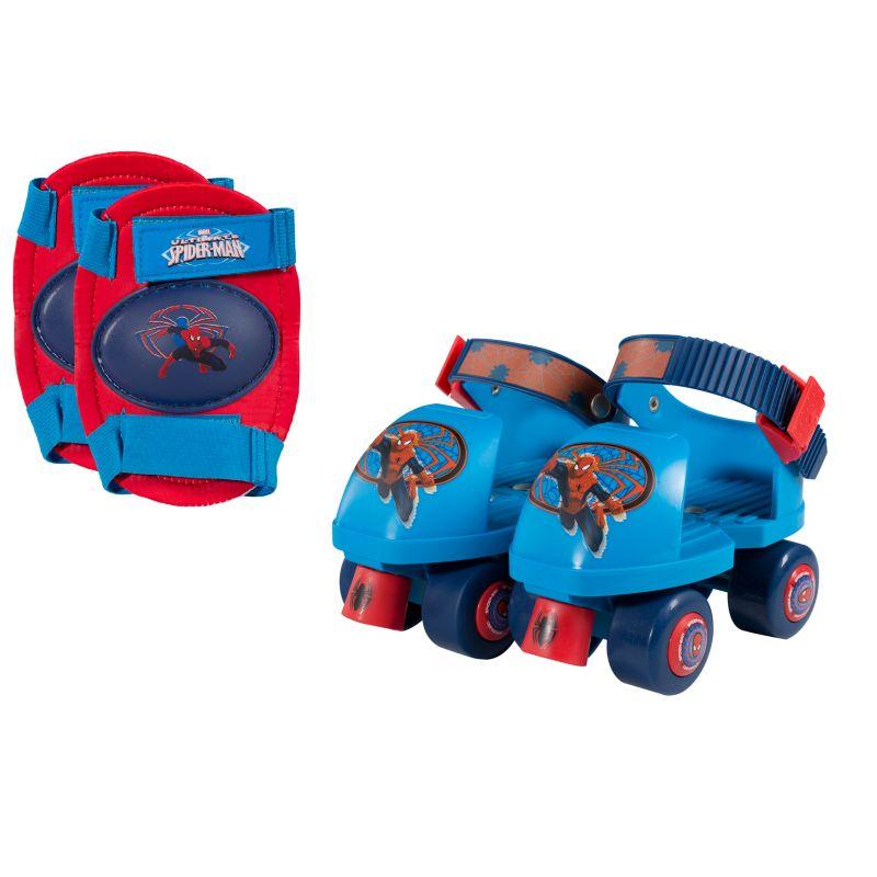 Marvel Spiderman Roller Skates & Knee Pads Set - Boys, Pink thumbnail