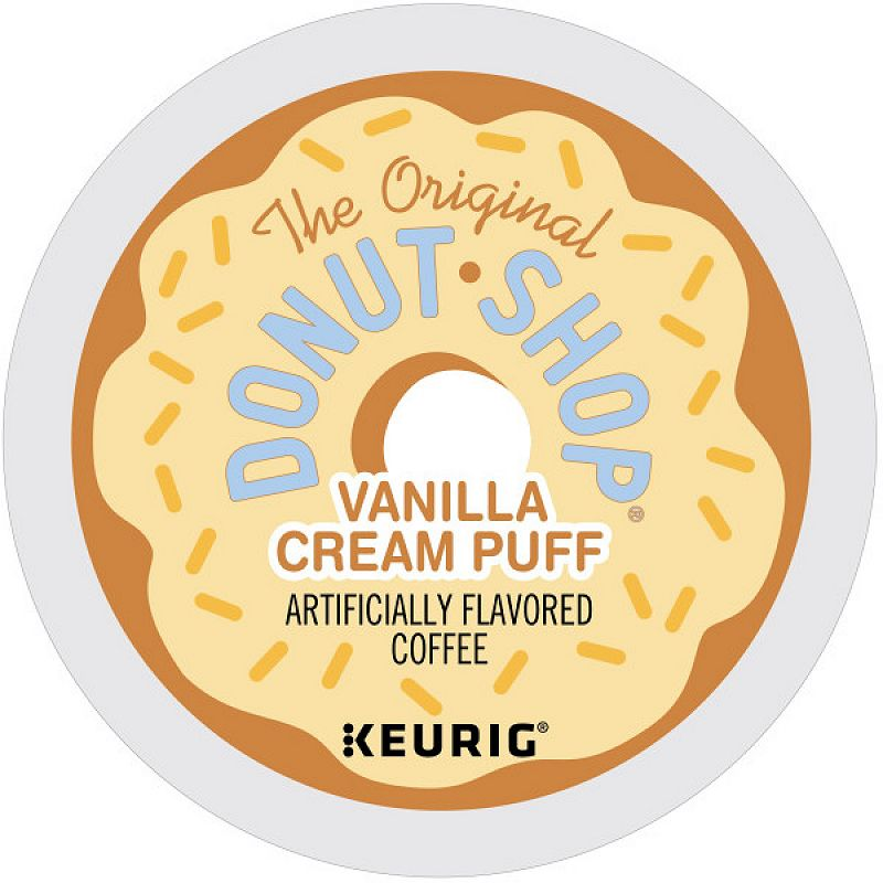 Keurig® K-Cup® Pod The Original Donut Shop Vanilla Cream Puff Medium Roast Coffee - 18-pk.