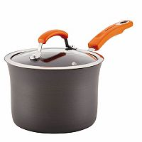 Rachael Ray Hard-Anodized Nonstick Aluminum 3-qt. Covered Saucepan