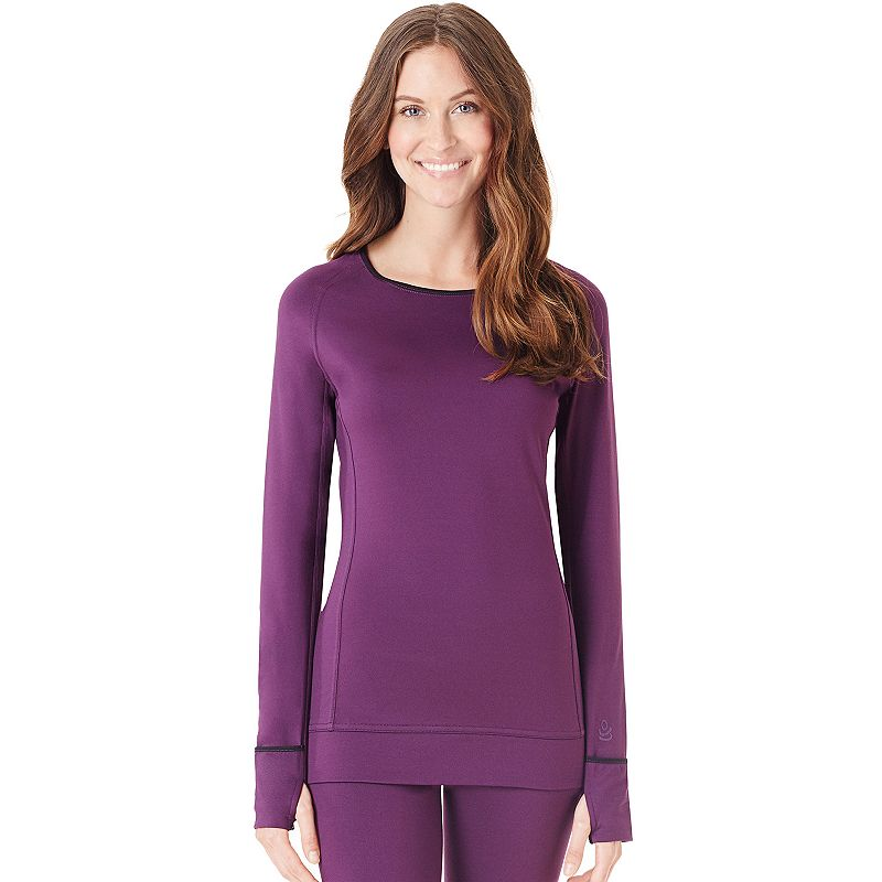 Cuddl Duds Smooth Plush Fleece-Lined Scoopneck Top - Women's