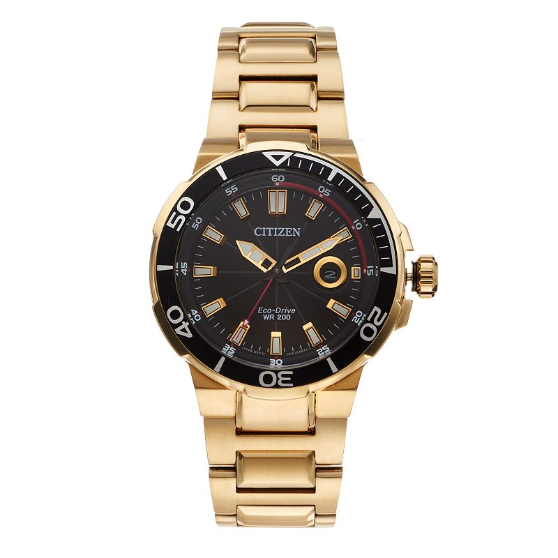 Citizen Eco-Drive Men's Endeavor Gold Tone Stainless Steel Watch - AW1422-50E