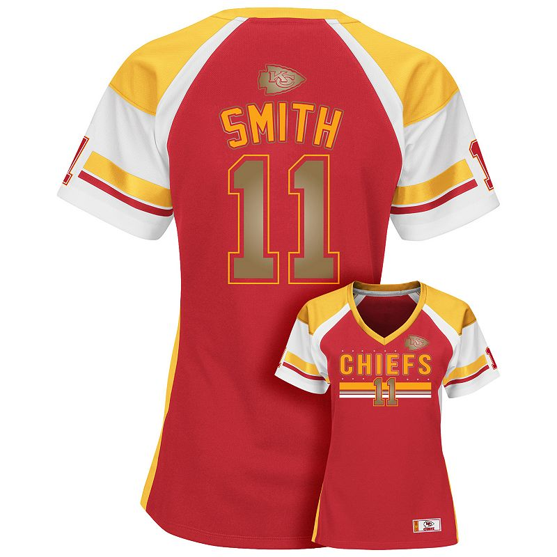 Women's Majestic Kansas City Chiefs Alex Smith Draft Him Fashion Top