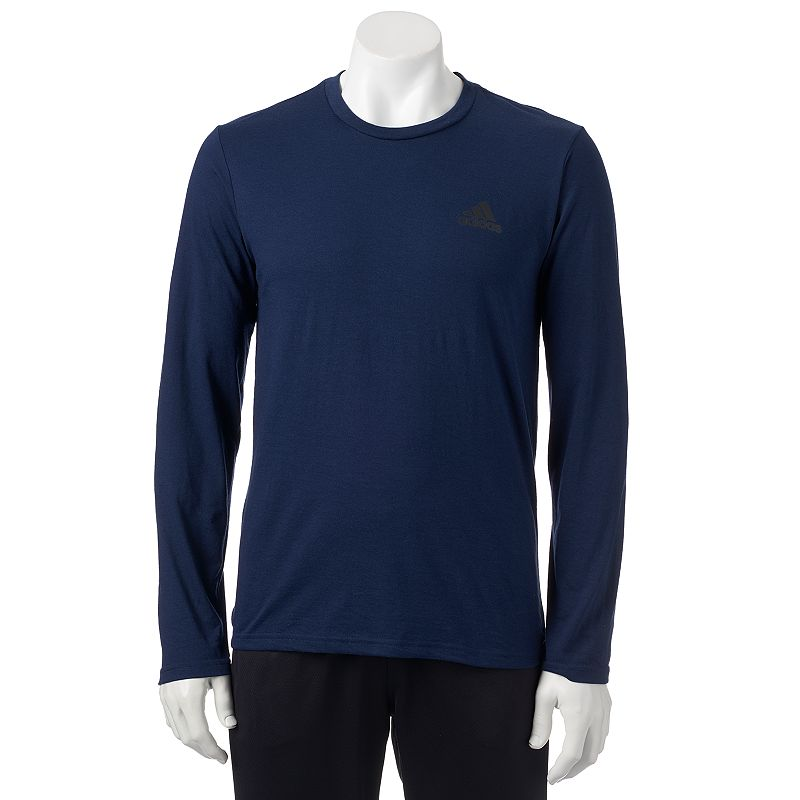 Men's adidas Navy The Go-To Performance Long-Sleeve Tee