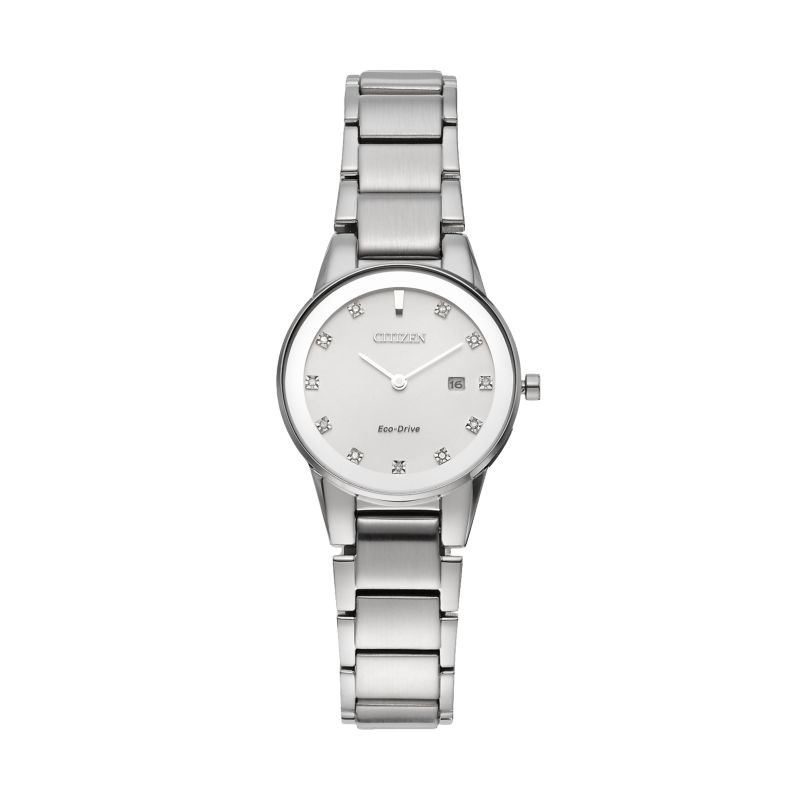 Citizen Eco-Drive Women's Axiom Diamond Stainless Steel Watch - GA1050-51B, Grey thumbnail