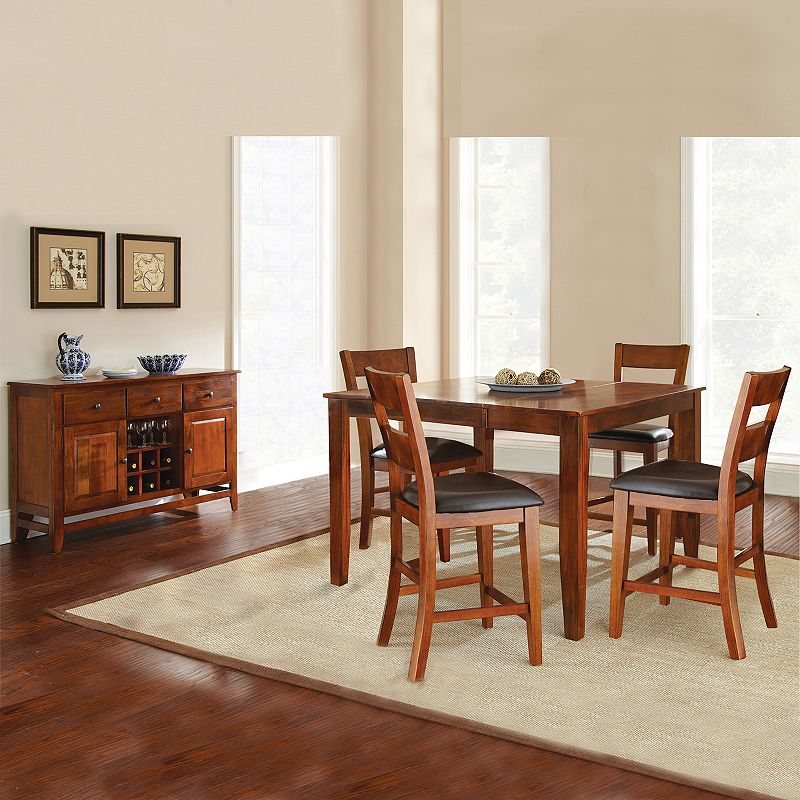 Mango 6 Piece Counter Dining Set Dealtrend