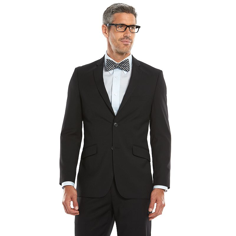 Men's Lazetti Slim-Fit Black Suit Jacket