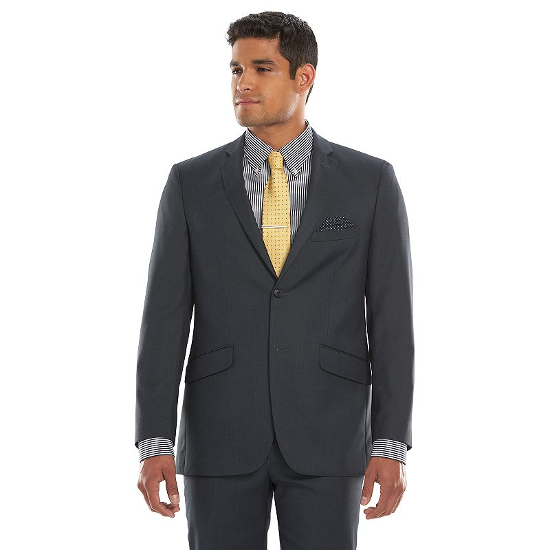 Men's Lazetti Slim-Fit Gray Suit Jacket